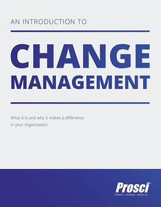 Introduction to change management ebook