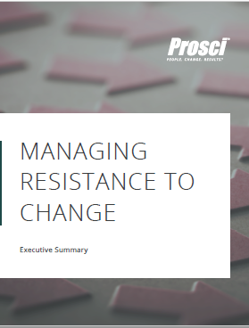 Managing Resistance for Change